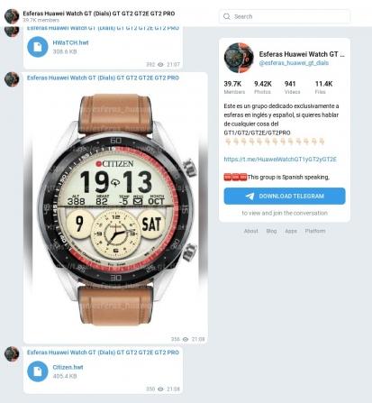 Esferas Huawei Watch GT